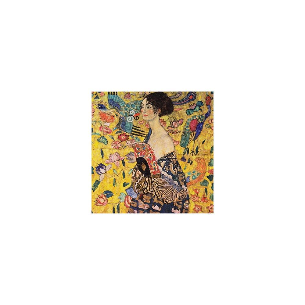 Reprodukcia obrazu Gustav Klimt - Lady with Fan, 60 × 60 cm