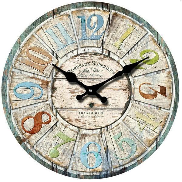 Sklenené hodiny Bordeaux, 38 cm