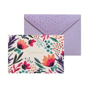 Sada 10 darčekových pohľadníc s obálkami Portico Designs FOIL Tulip Thank You