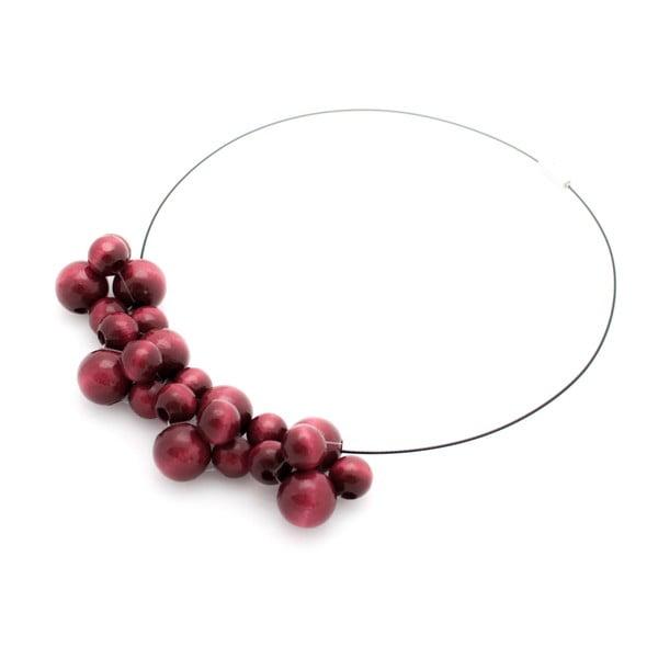 Vínový drevený náhrdelník ko–ra–leBubbles