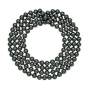 Perlový náhrdelník Muschel, zelené perly 8 mm, dĺžka 120 cm