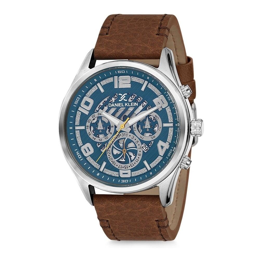 Pánske hodinky s hnedým koženým remienkom Daniel Klein Otto  cb9d8f99aed