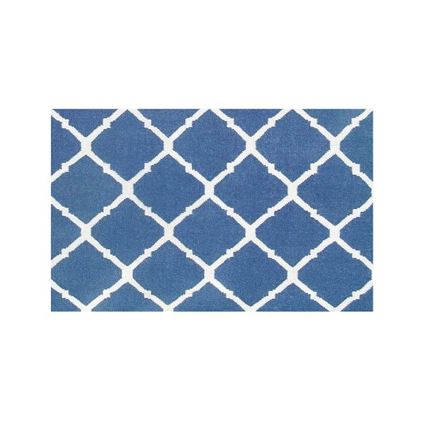 Vlnený koberec Julia Dark Blue, 140x200