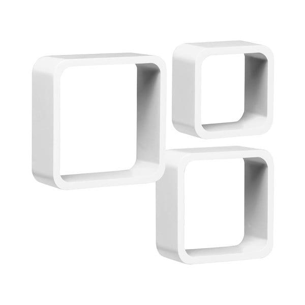 Set 3 políc Cubes, biely