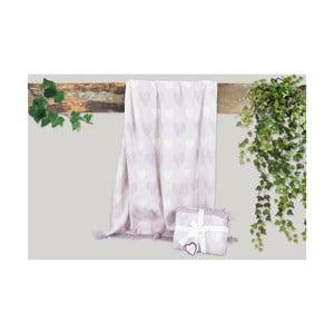 Fialová deka s prímesou bavlny Dolce Bonita Kalp, 155 × 125 cm