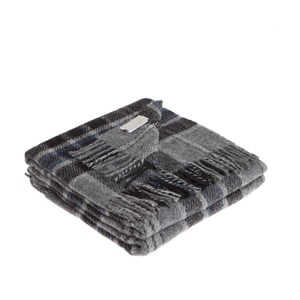 Sivá deka z panenskej vlny Lanerossi Levico, 130 x 170 cm