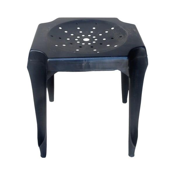 Kovový retro stolík Gion, čierny