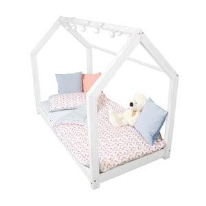 Detská biela posteľ z borovicového dreva Benlemi Tery, 80 x 160 cm
