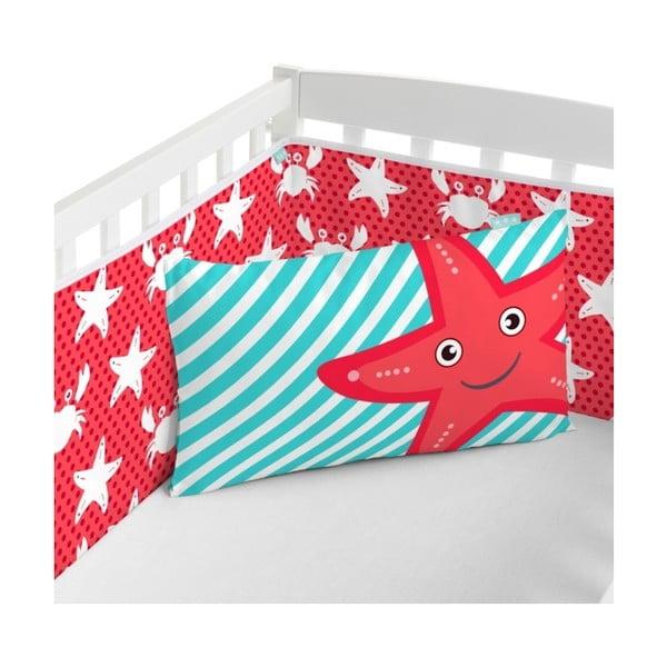 Textilná ohrádka na postieľku Little W Under The Sea, 60x60 cm