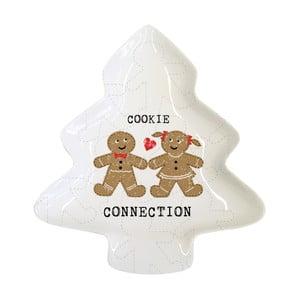 Porcelánová dekoratívna tácka s vianočným motívom PPD Cookie Connection