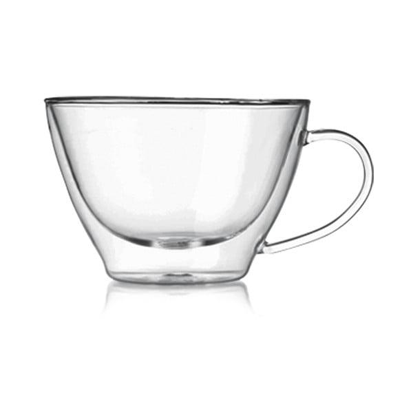 Sada 2 dvojstenných pohárov  Bredemeijer Cappucino