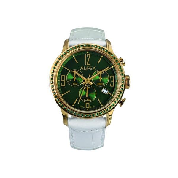 Dámske hodinky Alfex 5697 Yelllow Gold/White