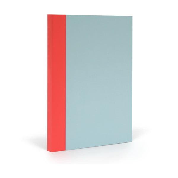 Zápisník FANTASTICPAPER XL Skyblue/Warm Red, riadkovaný