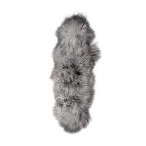 Sivý kožušinový koberec s dlhým vlasom Dara, 165 x 55 cm