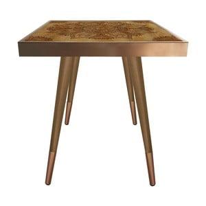 Príručný stolík Caresso Brown Oriental Square, 45 × 45 cm