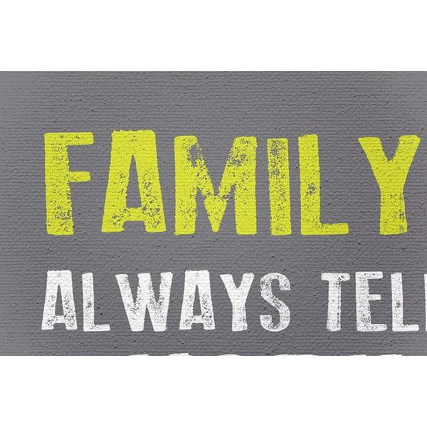 Obraz na plátne Family Rules, 50x70 cm, biely