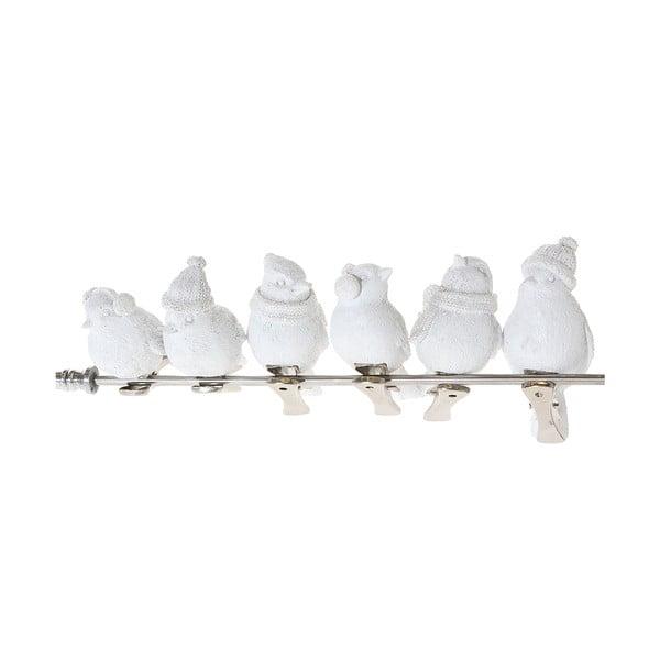 Sada 6 dekoratívnych holubov Bird Dove