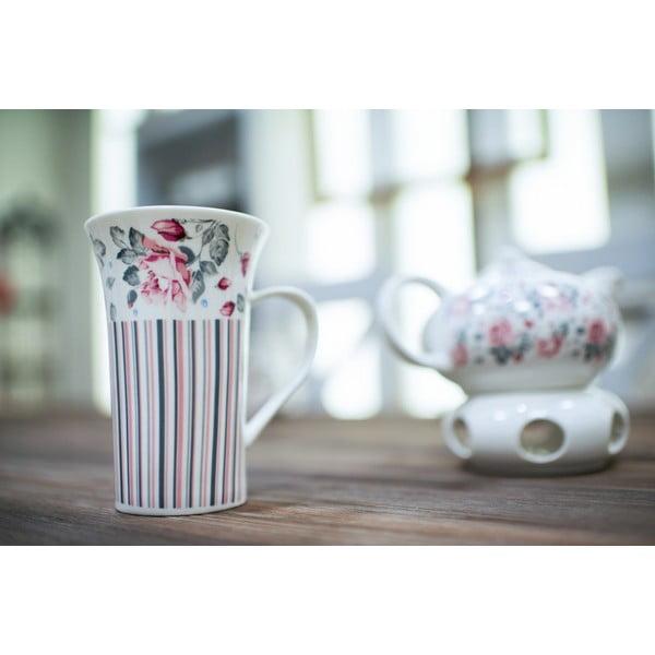 Porcelánový hrnček Duo Gift Růžička, 320 ml