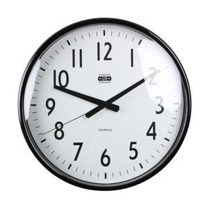 Čierne nástenné hodiny Strömshaga, Ø40 cm