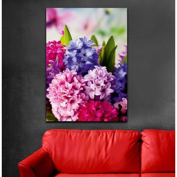 Obraz Ružová a fialová, 70x100 cm