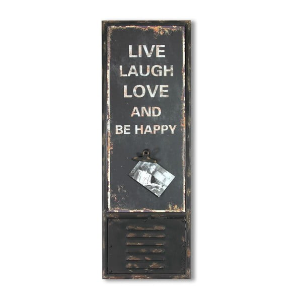 Ceduľa Love Laugh Live