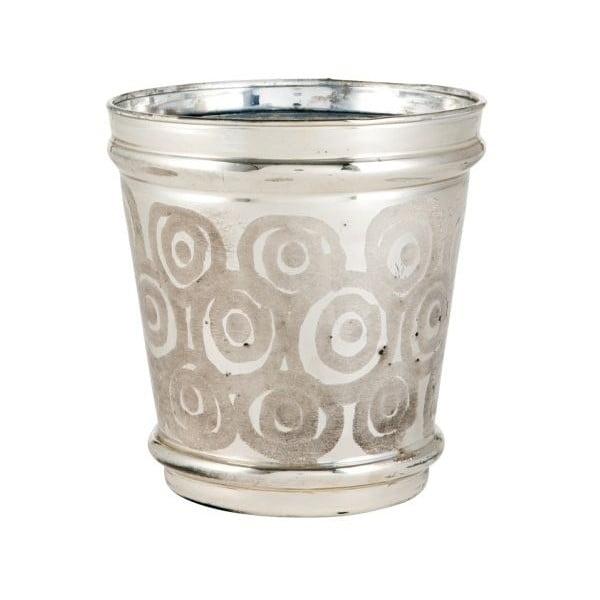 Svietnik Circle Silver, 15x15x13 cm