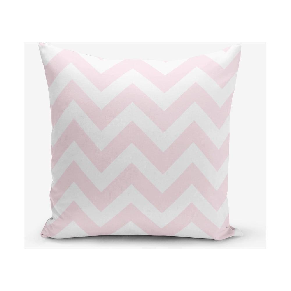 Ružová obliečka na vankúš Minimalist Cushion Covers Stripes, 45 × 45 cm