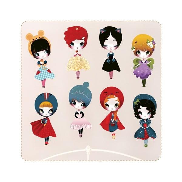 Samolepka na viac použití Dress Up 8 Dolls