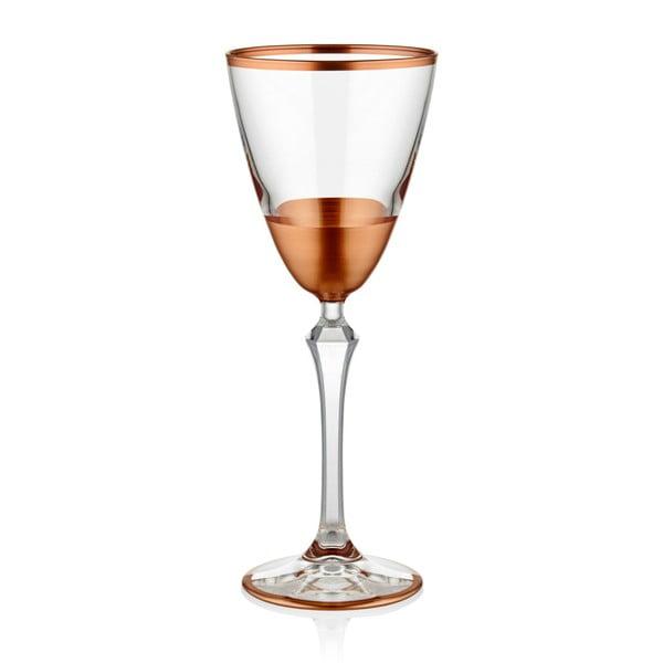 Sada 6 pohárov na víno v medenom dekóre The Mia