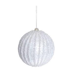 Závesná biela dekorácia Ewax Bola, ⌀ 8 cm