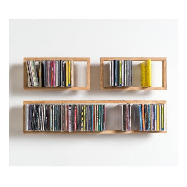 Polica na CD z dubového dreva das kleine b BCD,délka 69 cm