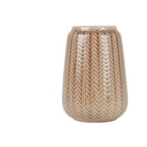 Stredná hnedá váza Present Time Knitted