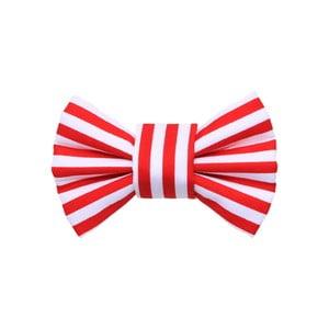 Červený charitatívny psí motýlik s proužky Funky Dog Bow Ties, veľ. S