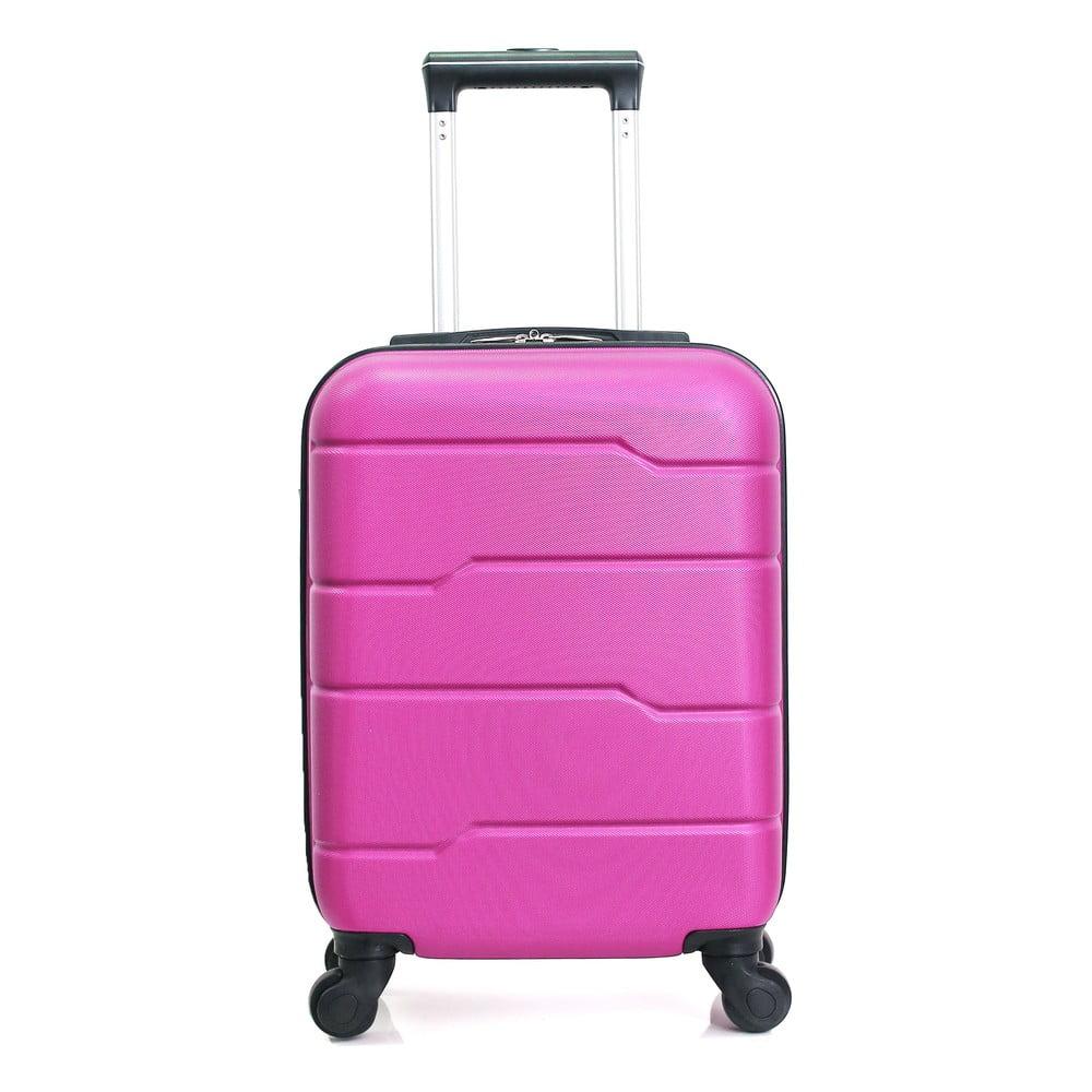 Ružový cestovný kufor na kolieskach Hero Santiago, 30 l