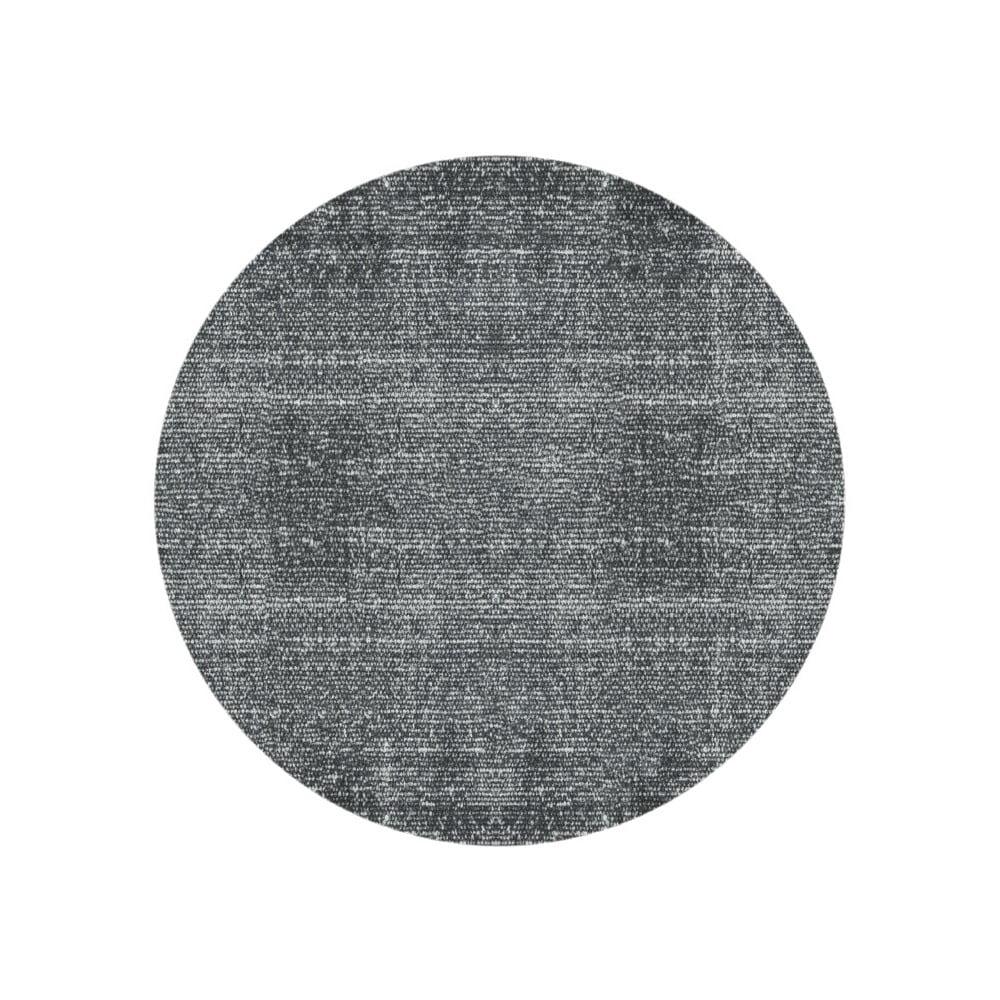 Čierny bavlnený koberec PT LIVING Washed, Ø 150 cm