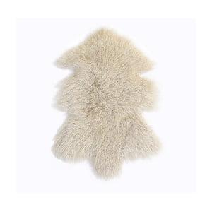 Krémovo-biely vlnený koberec z ovčej kožušiny Auskin Toran, 60×80 cm