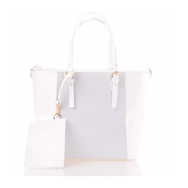Kožená kabelka Luna, biela