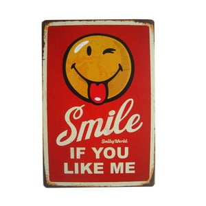 Ceduľa Smile, 20x30 cm