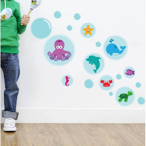 Dekoratívna samolepka na stenu Bubble Sea