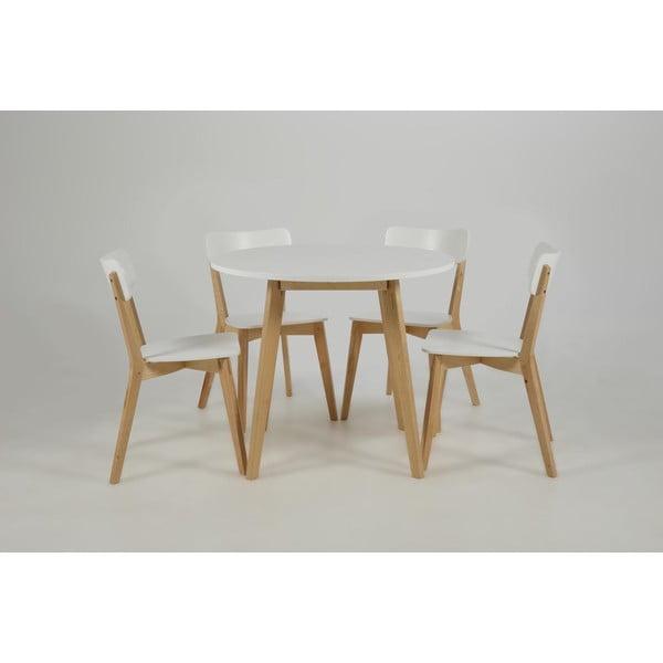 Biela jedálenská stolička Actona Raven