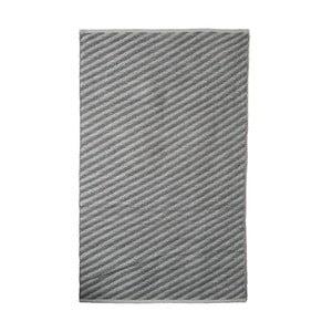 Sivý bavlnený ručne tkaný koberec Pipsa Diagonal, 140×200 cm