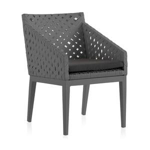 Sada 2 sivých záhradných stoličiek Geese Ribbon
