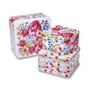 Sada 3 boxov Cooksmart England Floral Romance