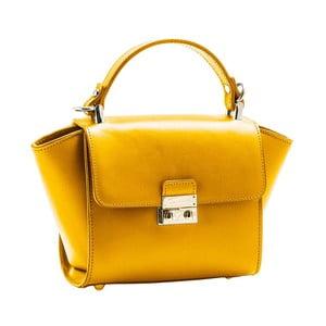Žltá kabelka z pravej kože Andrea Cardone Patero