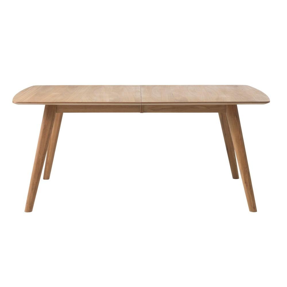 Rozkladací jedálenský stôl z masívneho duba Unique Furniture Rho, 180 x 100 cm