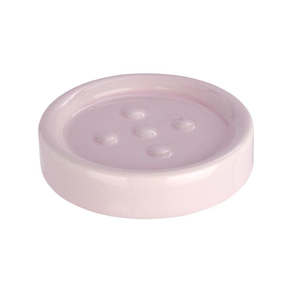 Ružová podložka pod mydlo Wenko Polaris Pink