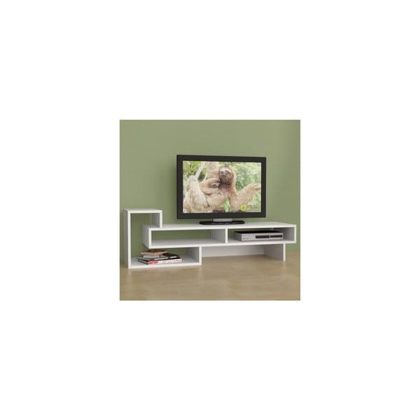 Televízny stolík Tetra, biely