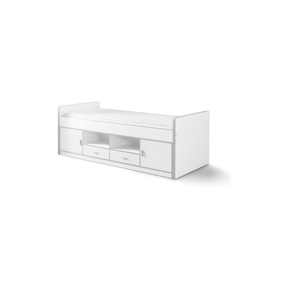 Biela detská posteľ s úložným priestorom Vipack Bonny, 200 × 90 cm