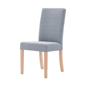 Sivá stolička s hnedými nohami Ted Lapidus Maison Tonka