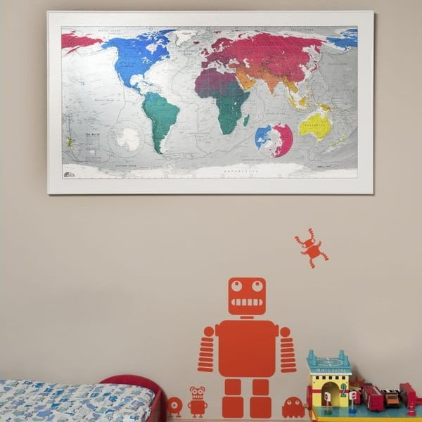 Mapa sveta The Future Mapping Company Colourful World, 130x72cm